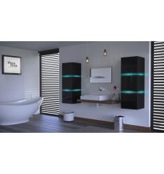 Meuble salle de bain ALIUS 14 - A14-HG-B-1 noir brillant
