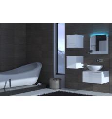 Meuble salle de bain ALIUS 26 - A26-HG-W-2 blanc brillant