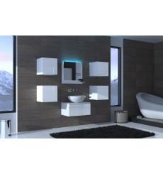 Meuble salle de bain ALIUS 25 - A25-HG-W-2 blanc brillant