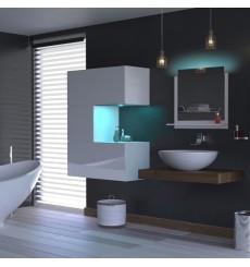 Meuble salle de bain ALIUS 45 - A45-HG-W-2 blanc brillant