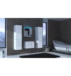 Meuble salle de bain ALIUS 31 - A31-HG-W-2 blanc brillant