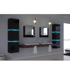 Meuble salle de bain ALIUS 16 - A16-HG-B-1 noir brillant