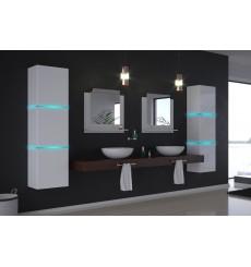 Meuble salle de bain ALIUS 16 - A16-HG-W-2 blanc brillant