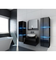 Meuble salle de bain ALIUS 3 - A3-HG-B-1 noir brillant