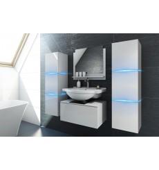 Meuble salle de bain ALIUS 2 - A2-HG-W-2 blanc brillant