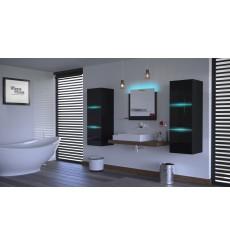 Meuble salle de bain ALIUS 4 - A4-HG-B-1 noir brillant