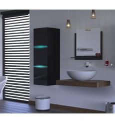 Meuble salle de bain ALIUS 5 - A5-HG-B-1 noir brillant