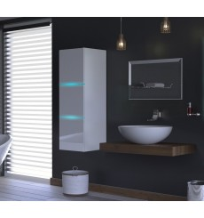 Meuble salle de bain ALIUS 7 - A7-HG-W-2 blanc brillant