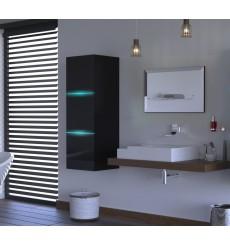 Meuble salle de bain ALIUS 7 - A7-HG-B-1 noir brillant