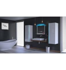 Meuble salle de bain ALIUS 8 - A8-HG-W-2 blanc brillant