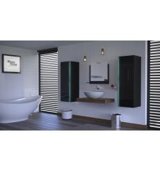 Meuble salle de bain ALIUS 8 - A8-HG-B-1 noir brillant