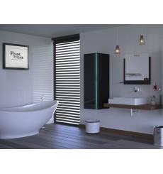 Meuble salle de bain ALIUS 9 - A9-HG-B-1 noir brillant
