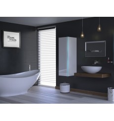 Meuble salle de bain ALIUS 11 - A11-HG-W-2 blanc brillant