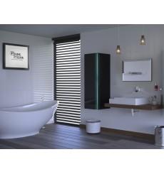Meuble salle de bain ALIUS 11 - A11-HG-B-1 noir brillant