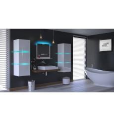 Meuble salle de bain ALIUS 12 - A12-HG-W-2 blanc brillant
