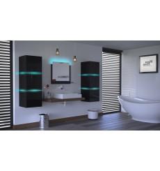 Meuble salle de bain ALIUS 12 - A12-HG-B-1 noir brillant