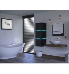 Meuble salle de bain ALIUS 13 - A13-HG-B-1 noir brillant