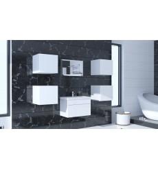 Meuble salle de bain ALIUS 29 - A29-HG-W-2 blanc brillant