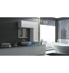 Meuble salle de bain ALIUS 42 - A42-HG-W-2 blanc brillant