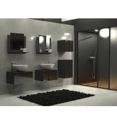 Meuble salle de bain ALIUS 37 - A37-HG-B-1 noir brillant