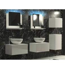 Meuble salle de bain ALIUS 37 - A37-HG-W-2 blanc brillant
