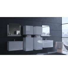 Meuble salle de bain ALIUS 38 - A38-HG-W-2 blanc brillant