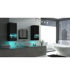 Meuble salle de bain ALIUS 41 - A41-HG-B-1 noir brillant