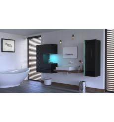 Meuble salle de bain ALIUS 50 - A50-HG-B-1 noir brillant