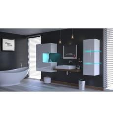 Meuble salle de bain ALIUS 51 - A51-HG-W-2 blanc brillant