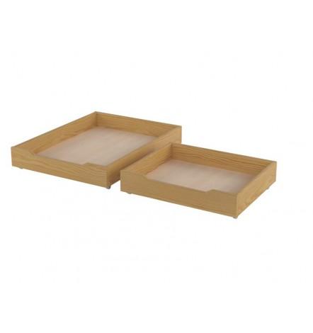 Lot de 2 tiroirs de lit MAGGIE