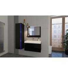 Meuble salle de bain DREAM I 80 DR1-17B-HG20-80 noir brillant