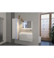 Meuble salle de bain DREAM I 80 DR1-17W-HG21-80 blanc brillant
