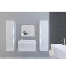 Meuble salle de bain DREAM II 80 DR2-17W-HG21-80 blanc brillant