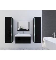 Meuble salle de bain DREAM II 80 DR2-17B-HG20-80U noir brillant