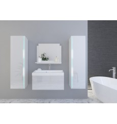 Meuble salle de bain DREAM II 80 DR2-17W-HG21-80U blanc brillant