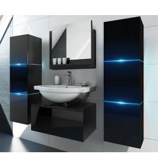 Meuble salle de bain LIKE II L60 / 2-14 / HG / B / 1 noir brillant