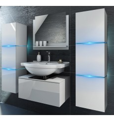 Meuble salle de bain LIKE II L60 / 2-14 / HG / W / 2 blanc brillant