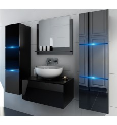 Meuble salle de bain LIKE II 60 noir brillant