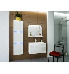 Meuble salle de bain LUNA I 60 LU1-17W-HG21-60U blanc brillant avec vasque
