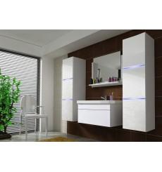 Meuble salle de bain LUNA II 80 LU2-17W-HG21-80 blanc brillant