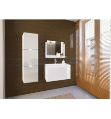 Meuble salle de bain IBIZA I 80 IB1-17W-HG21-80 blanc brillant