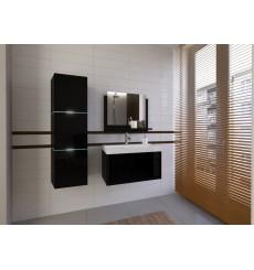 Meuble salle de bain IBIZA I 80 IB1-17B-HG20-U80 noir brillant avec vasque