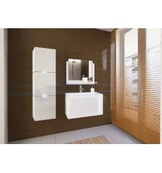 Meuble salle de bain IBIZA I 80 IB1-17W-HG21-U80 blanc brillant avec vasque