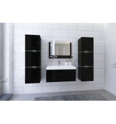Meuble salle de bain IBIZA II 80 IB2-17B-HG20-U80 noir brillant avec vasque