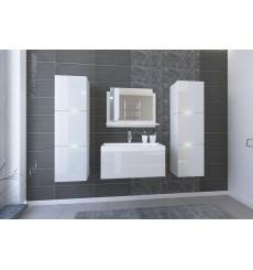 Meuble salle de bain IBIZA II 80 IB2-17W-HG21-U80 blanc brillant avec vasque