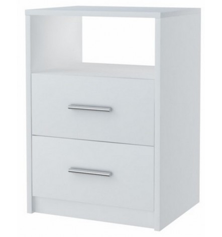 Table de chevet à tiroir MAEVA 40 x 59 cm blanc