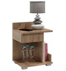 Table de chevet ROMY 40x50 cm chêne