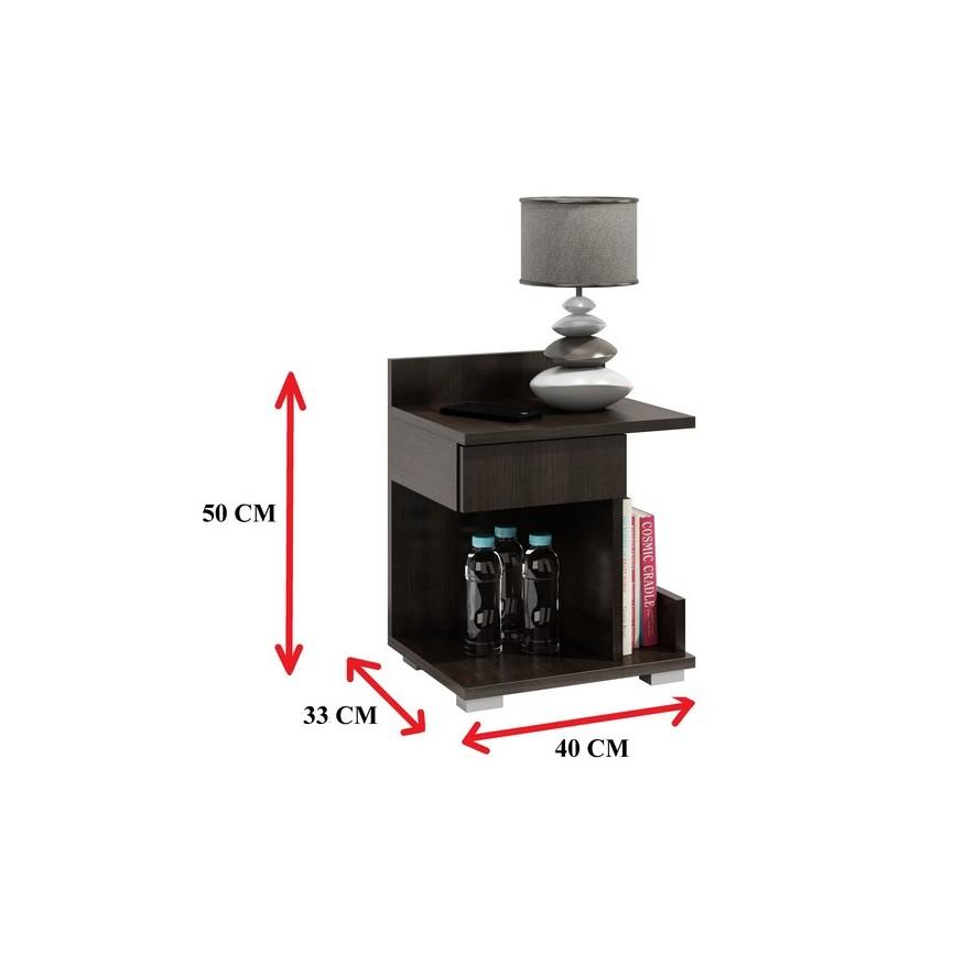 Chambre Weng: Table De Chevet ROMY 40x50 Cm Wengé Sur Notre Boutique En