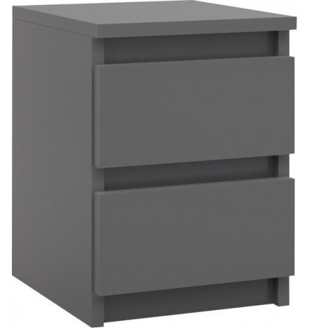 Table de chevet à tiroir LEA 40x30 cm en gris