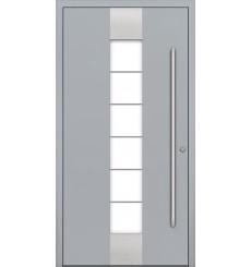 Porte en aluminium PASSIVE ALU G1 90 cm gris